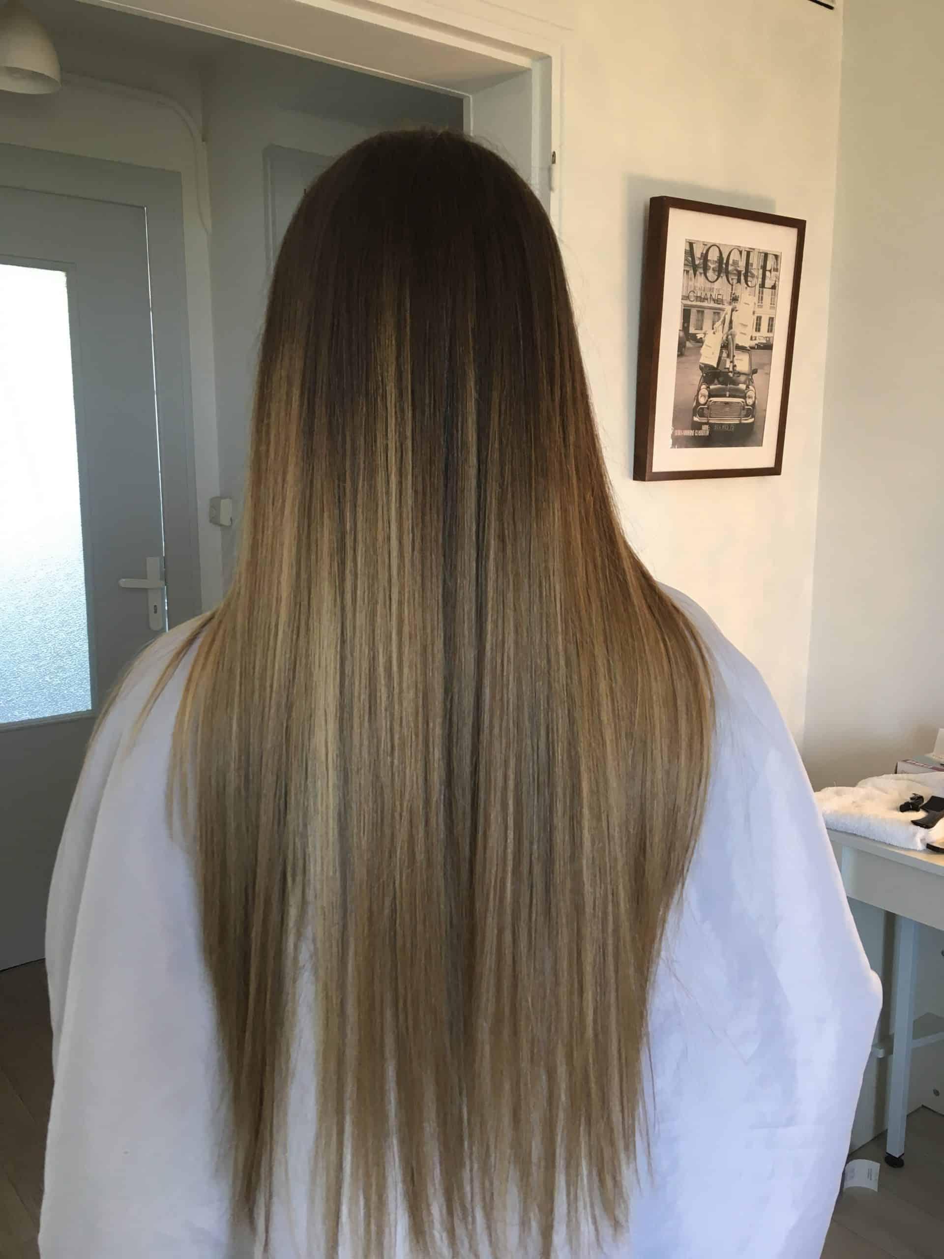 coiffure femme balayage blonde