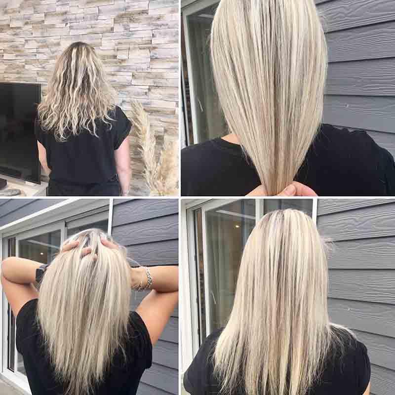 balayage blond polaire patine brushing