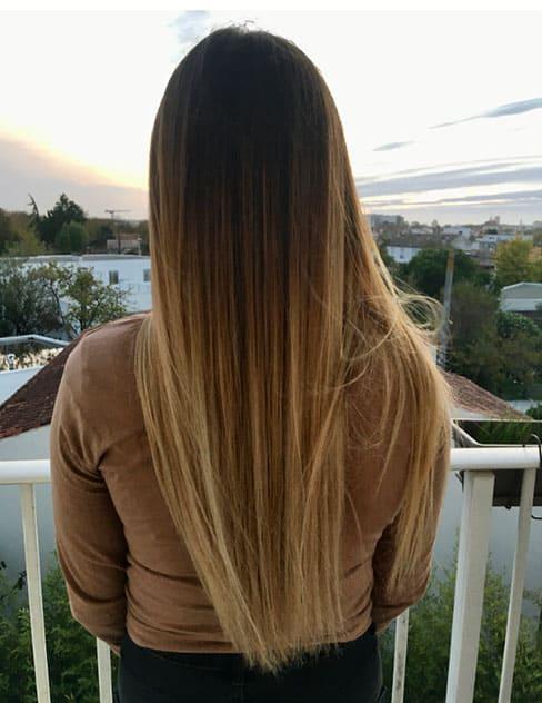 balayage cheveux long coiffeuse domicile